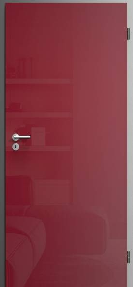 interierove dvere sapeli vysoky lesk cervena