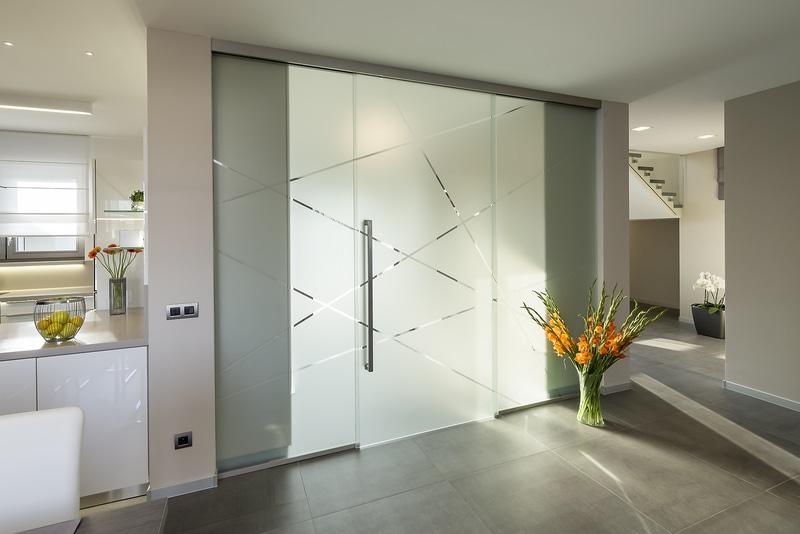 skleněné dveře posuvné