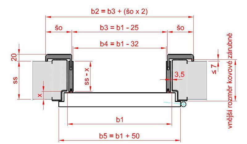 obklad kovové zárubně rozměry