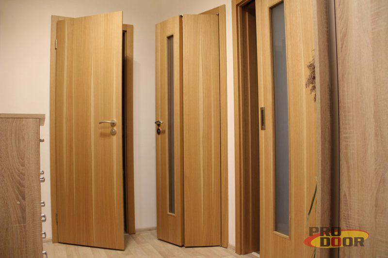 skladaci interierove drevene dvere