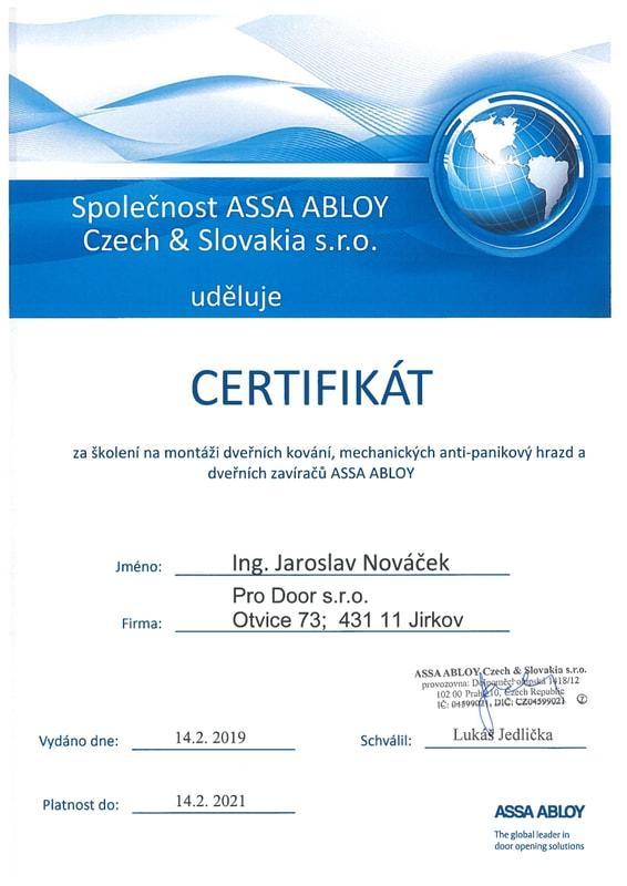 Pověření ASSA Abloy