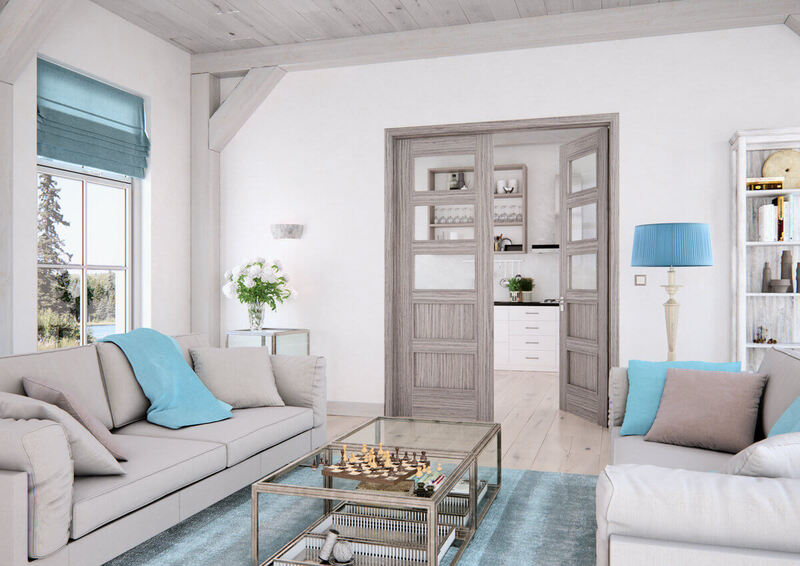 dvoukřídlové interiérové dveře sapeli