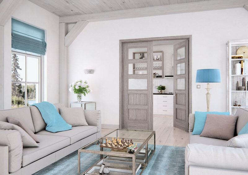 symetrické dvoukřídlé dveře