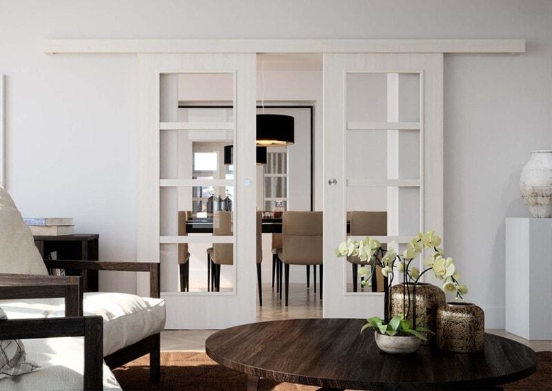 Bílé interiérové dveře moderní Art deco styl