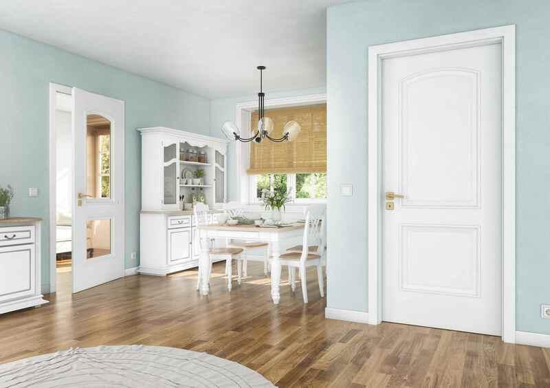 Bílé interiérové dveře provance styl