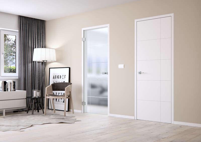 Bílé interiérové dveře skandinávský styl