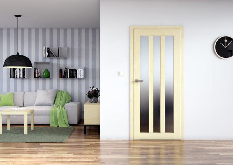 Prosklene interierove dvere Sapeli KUBIKA dyha javor evropsky
