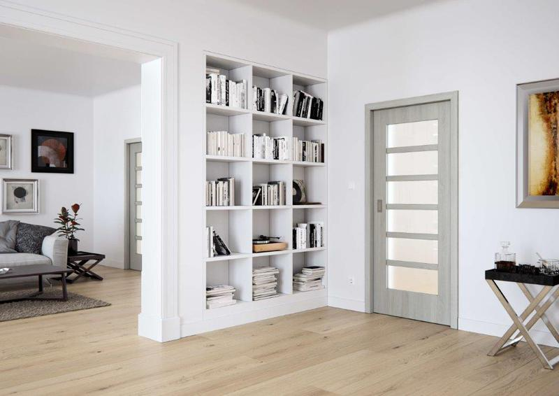 Prosklene interierove dvere sapeli mera sapdecor dub bily posuvne