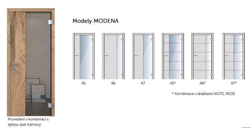 Dvere Sapeli Modena varianty